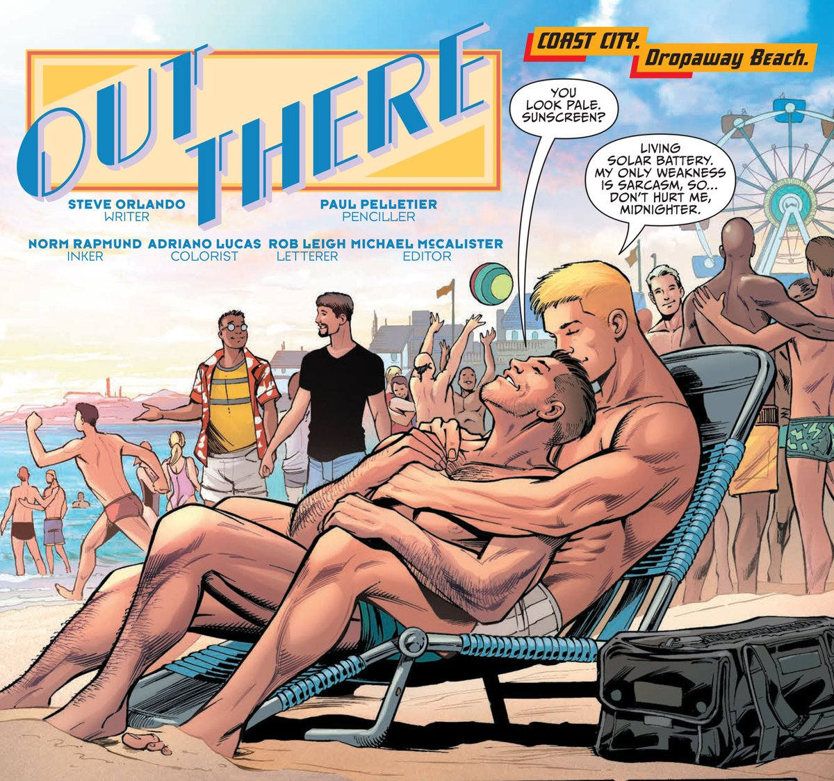 This is what love looks like 💙💛 Visit Coast City #Pride with Apollo and Midnighter in DC CYBERNETIC SUMMER! https://t.co/7erLqJPnh2 https://t.co/8IrTwvMSqC
