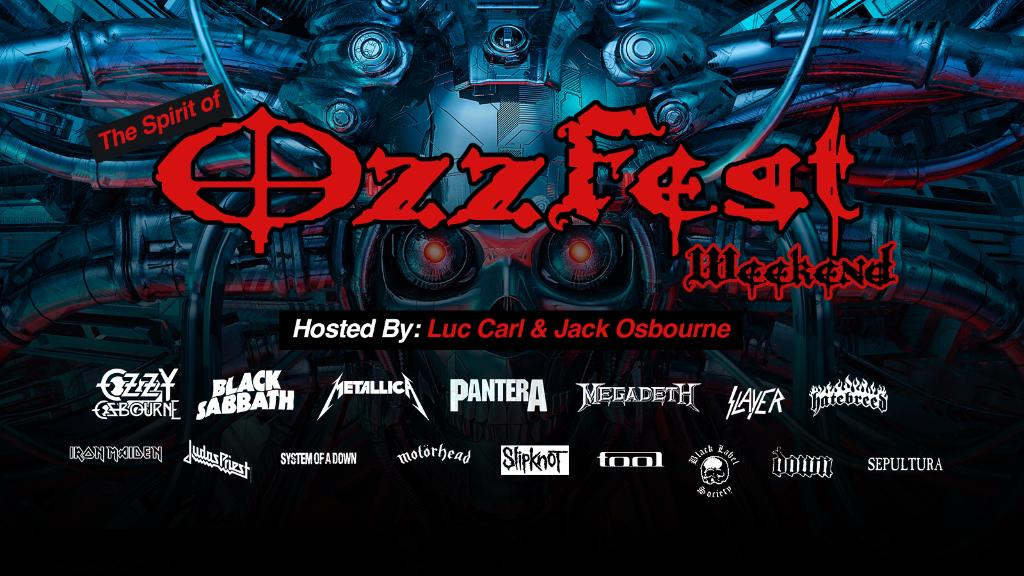 """All aboard the virtual """"Crazy Train!"""" Hear live performances from @OzzyOsbourne, @BlackSabbath, @Pantera, and more on @OzzysBoneyard. Details on The Spirit of Ozzfest Weekend: https://t.co/mhby6hC8Qa https://t.co/SQmts1frMe"""