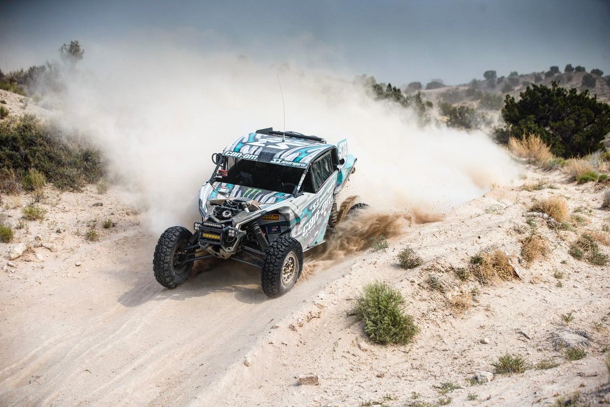"""First race back! 🏁 Take a look at the crew out at the @BestintheDesert Silverstate 300 with Dustin """"Battle Axe"""" Jones taking 2nd in the Turbo UTV class, less than a minute behind the top of the podium.  👥: Dustin Jones @BJBaldwin97 @rickyB357  Matt Burroughs  #MonsterEnergy https://t.co/NdoNWlubUr"""