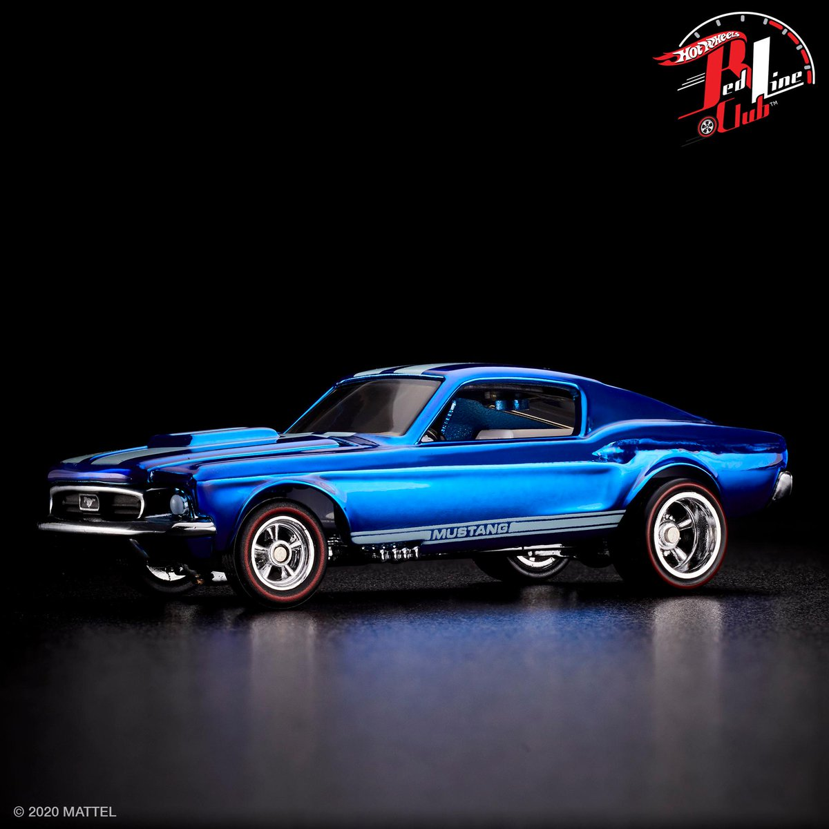 Nothing like a #HotWheels 16 upgrade!  This Otto blue custom Mustang is available now, exclusively for Red Line Club members. pic.twitter.com/3GsnWELIW1  by Hot Wheels