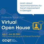 Image for the Tweet beginning: Join GDOT's virtual open house