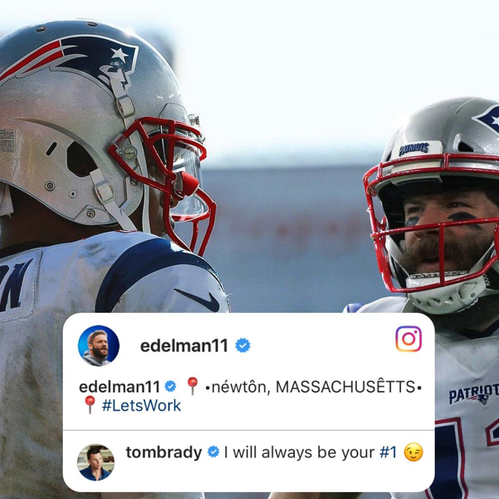 Tom Brady's response to Julian Edelman's post about Cam Newton 😂 https://t.co/jGig85yWIe