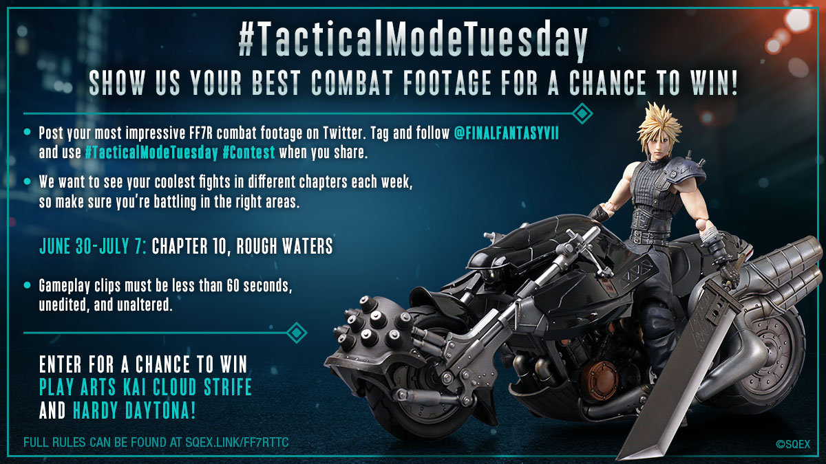The final week of our #TacticalModeTuesday contest starts now! Show us your best moves in the sewers below the slums. #FF7R   Full rules: https://t.co/jaAwsfas5t https://t.co/O22seYfnvN