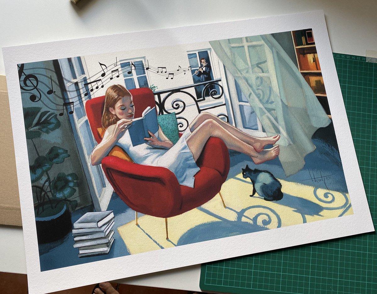 Lectura en casa ...  Sigue leyendo 🎶 sigue leyendo🎶 #prints #hahnemühle #cottonpaper #lecturaencasa #sigueleyendo #fernandovicente https://t.co/v4nqTcg4Ju