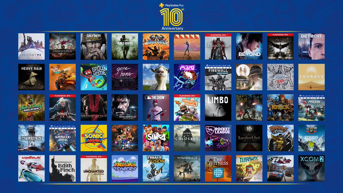 """PlayStation on Twitter: """"How many monthly games have been offered in the 10  years since PS Plus launched? Find out: https://t.co/jCNppq0I4Z… """""""