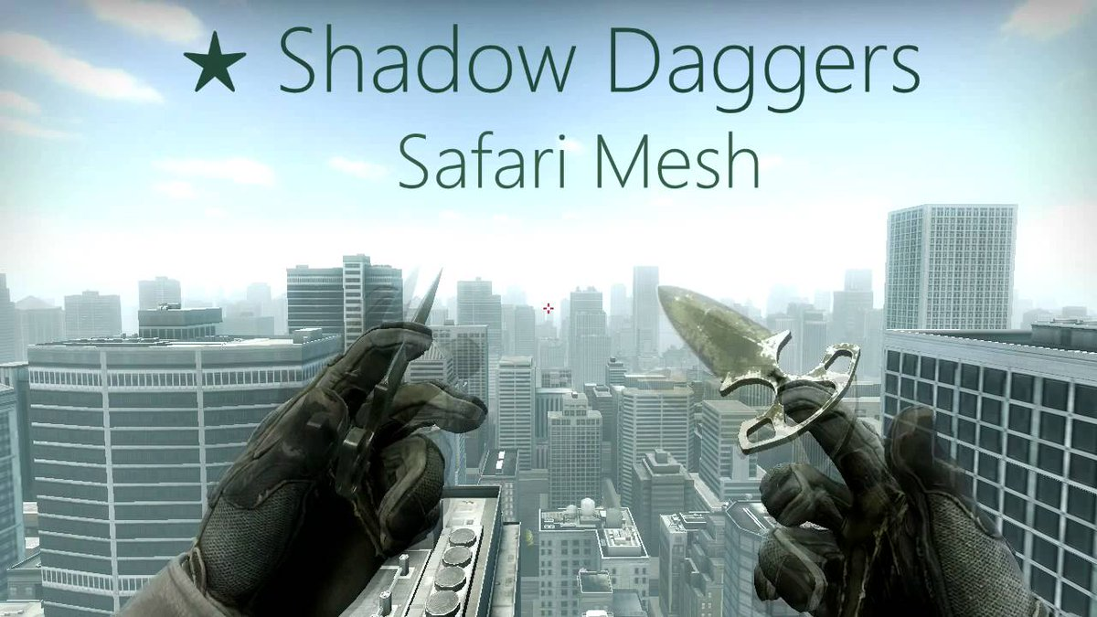 👑Giveaway👑  I'm partnering with @AccusataS to celebrate their recent results!  We're giving away these Shadow Daggers Safari Mesh (BS)!   To enter: ✅Follow @AccusataS ✅ ✅Follow @TonnesCS  ✅ ✅Retweet! ✅  Winner will be drawn in a week  🍀Good luck everyone🍀 https://t.co/0yJKY5XccP