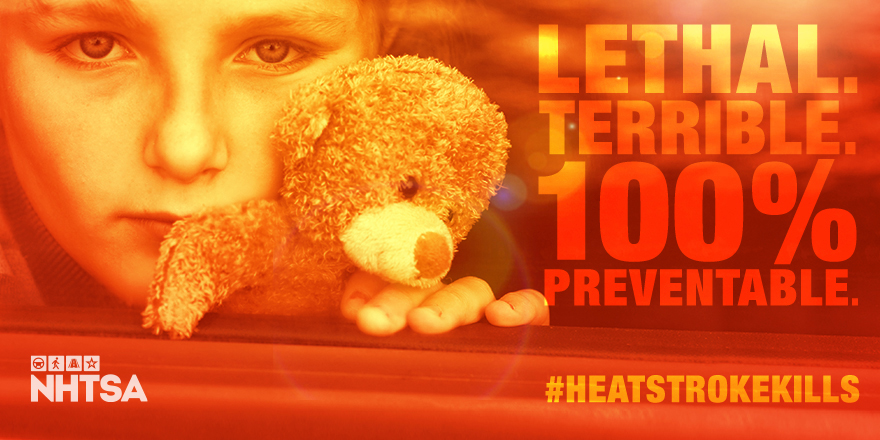 Hot cars can kill. Whether you are a grandparent, parent, guardian, or bystander, everyone plays a critical part in child safety – it's up to everyone to stop these preventable tragedies. #HeatstrokeKills #CheckForBaby https://t.co/3d9sd90irV