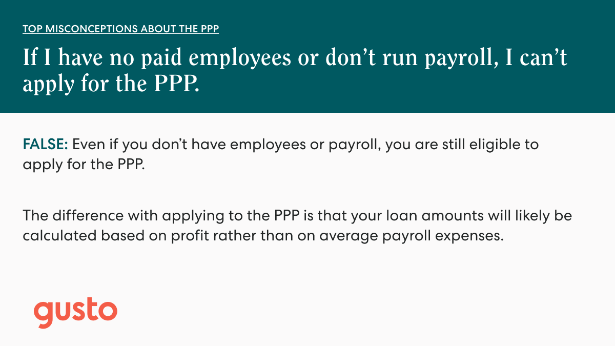 (3 of 3)  Worried you're not eligible for the #PPP or that you'll have to pay back your loan in full?   We've debunked some common misconceptions around eligibility and loan forgiveness below.  #PPPFinishLine #smallbiz #selfemployed https://t.co/FqPCw9o1L1