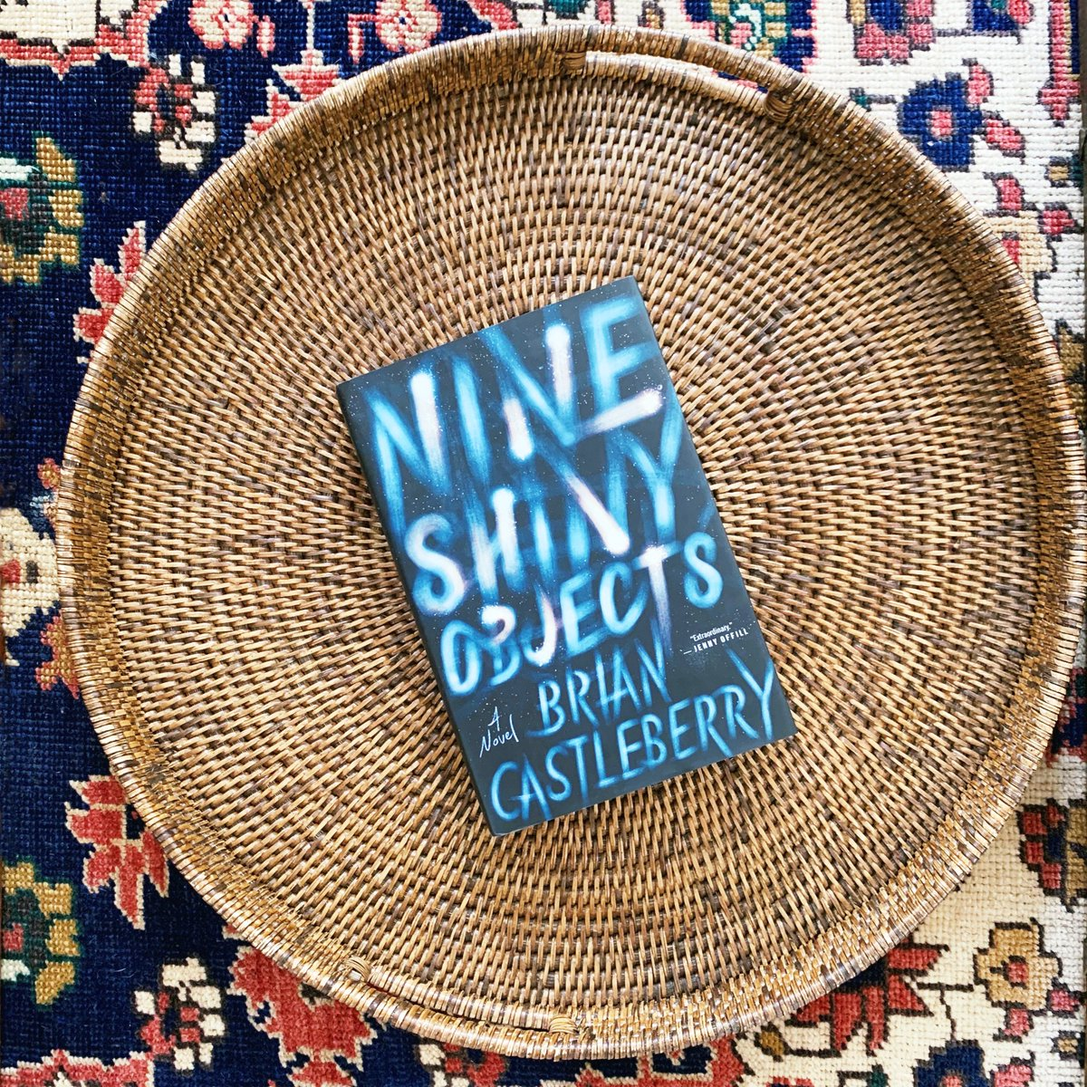Nine Shiny Objects is on shelves today! @briancastleber5's debut is one you won't want to miss and is perfect for fans of Jennifer Egan, Tommy Orange, and Don DeLillo.