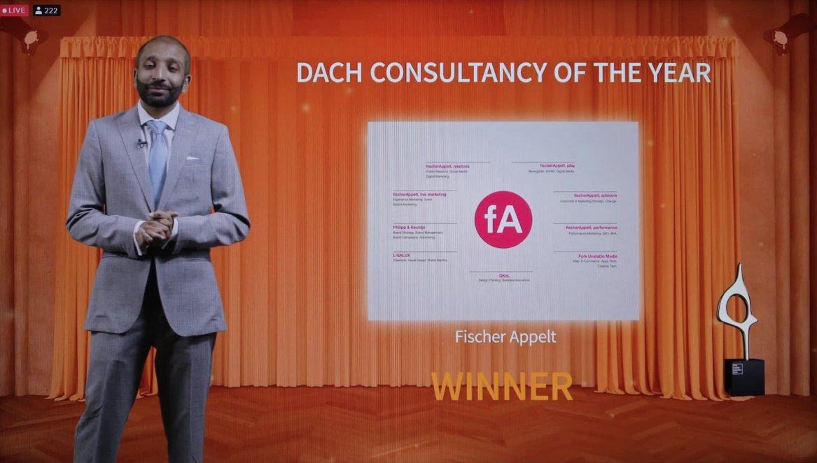 Tonight @fischerAppelt was named the DACH Agency of the Year by PRovoke Media at the #sabreawards virtual gala. Thanks, it would not have been possible without our great clients and dedicated people. Thank you Paul Holmes and Arun Sudhaman. @PROIWorldwide https://t.co/Qr8HbJUHLw