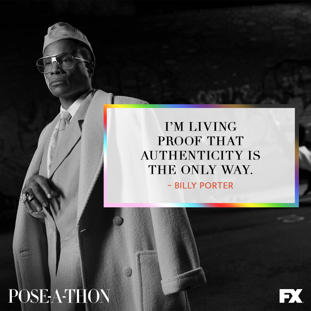 If you dont feel this to your very core, let @theebillyporter remind you. Watch #POSEATHON at PoseAThon.com and remember to live your truth and love yourself.