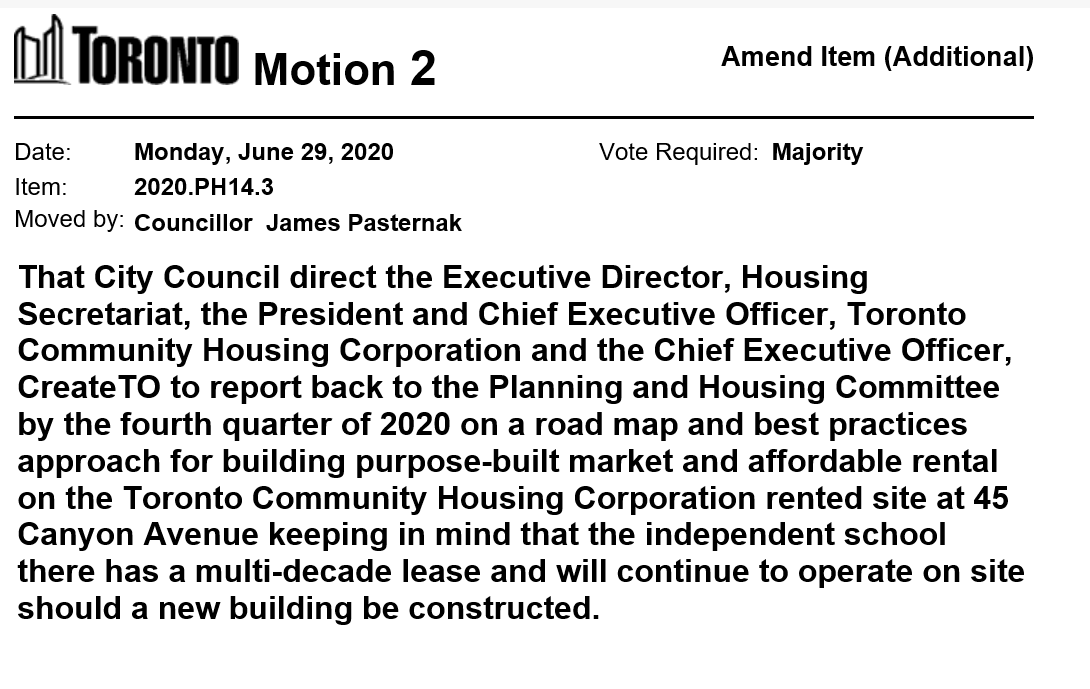 Councillor Pasternak has moved a motion on Item PH14.3 -  Housing Now Initiative - Annual Progress Report https://t.co/Ws8RIvEU2n #tocouncil https://t.co/kkYaFxhjTA