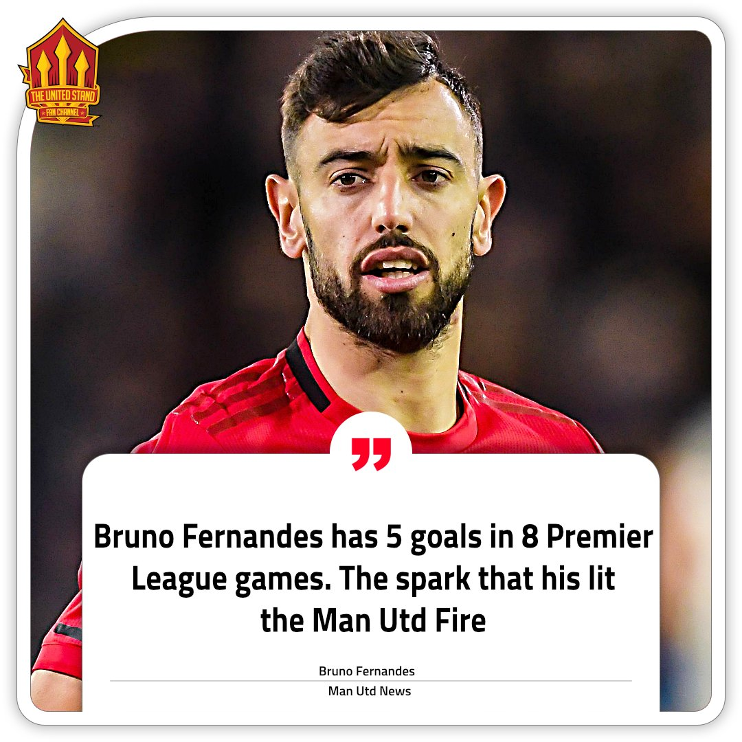 You cant start a fire without a spark! Theres no doubting Bruno Fernandes is that spark #mufc