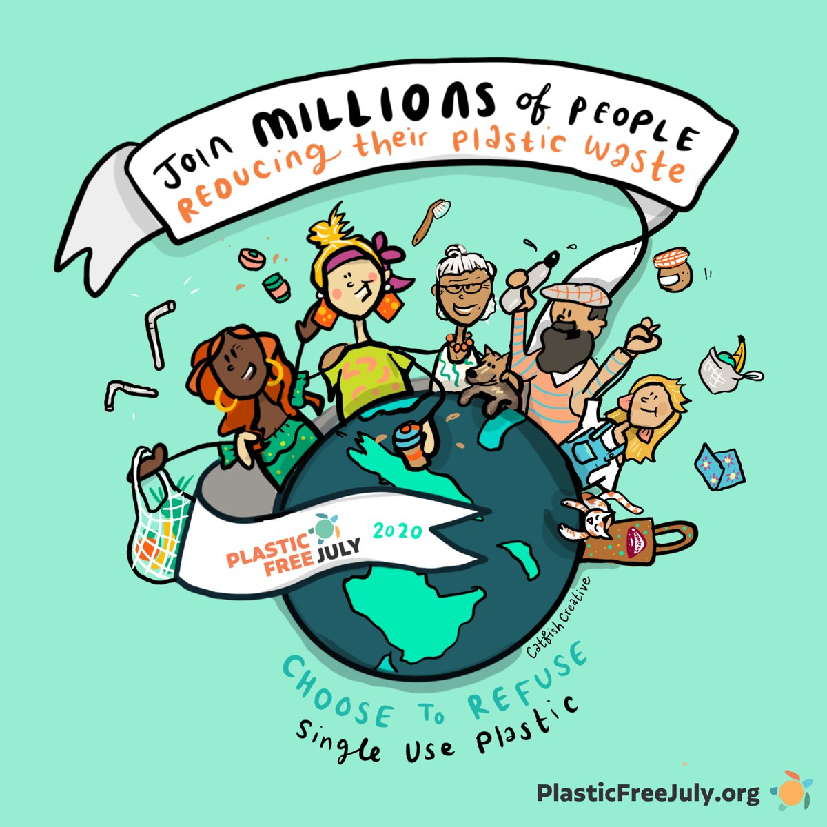 Plastic Free July is a global movement that helps millions of people be part of the solution to plastic pollution – so we can have cleaner streets, oceans, and beautiful communities. Will you be part of #plasticfreejuly by choosing to refuse single-use plastics? https://t.co/TelrNEr563