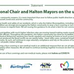 Image for the Tweet beginning: The #HaltonON Municipalities released a