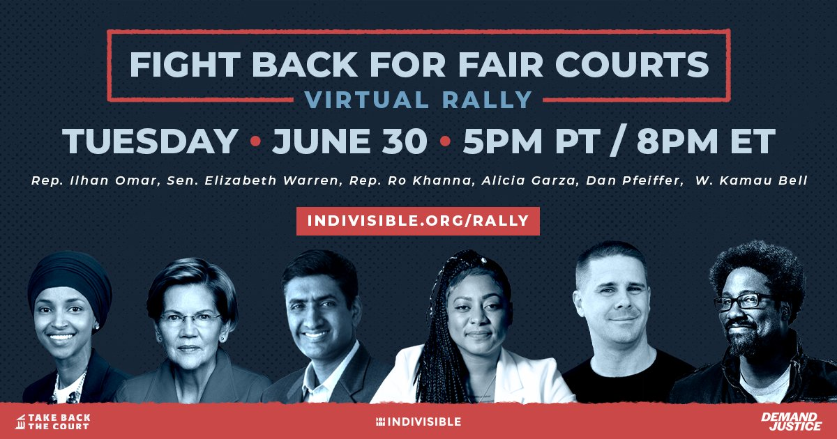It's crucial we fight for a Supreme Court that will uphold the rights of all Americans and put forward decisions that make our country more equitable.   Excited to join this virtual rally tonight.   RSVP: https://t.co/bh7RGcLh9X https://t.co/p05ufzIyUr