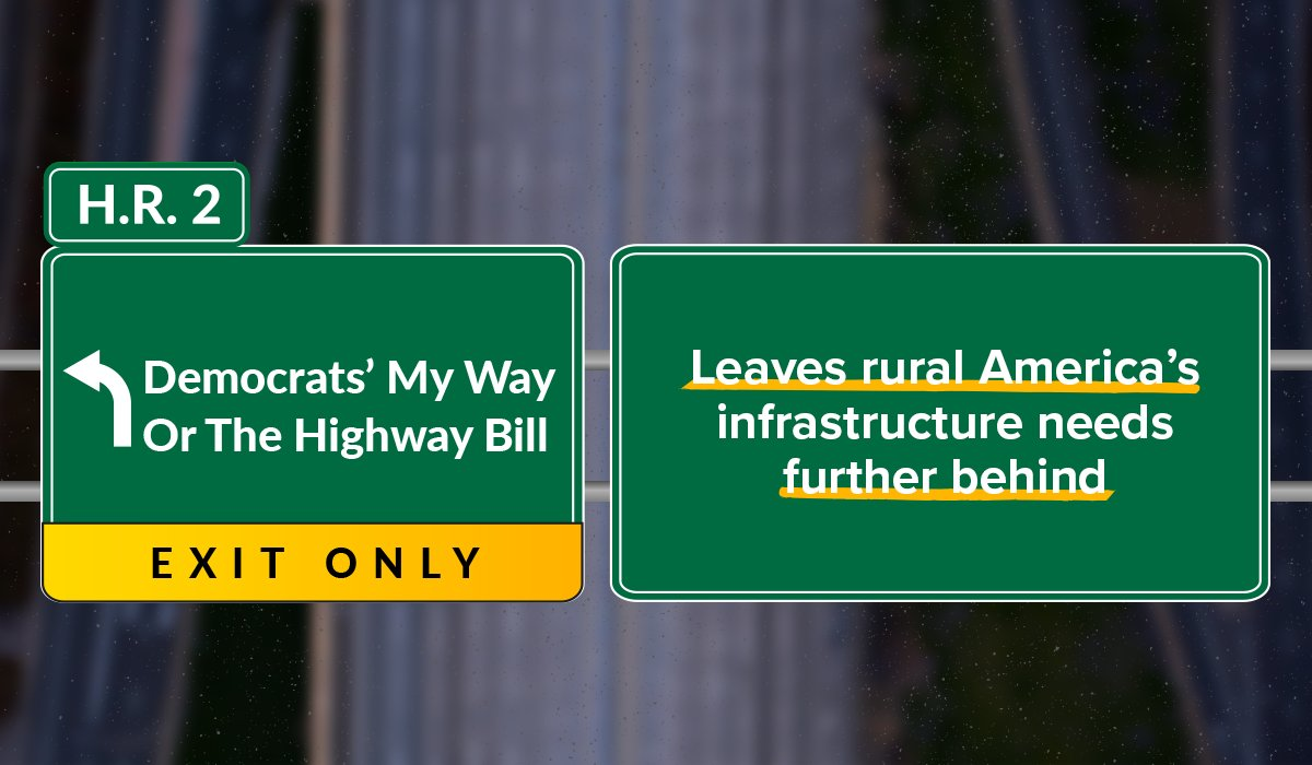 Democrats' My Way or the Highway bill is nothing more than a liberal wish list that leaves rural areas like AK behind. As fmr T&I Chairman, I know what it takes to get an infrastructure bill done. Frankly, @TransportDems are wasting time on a bill that's going nowhere fast. #HR2 https://t.co/EYyxCPMarX