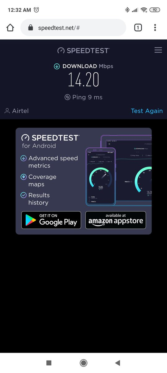 @Airtel_Presence This is the highest speed I got in banglore from airtel fake broadband.. Even after making multiple complaints you guys are so ignorant.. Ill just throw it out as my plan expires.. Pathetic customer service