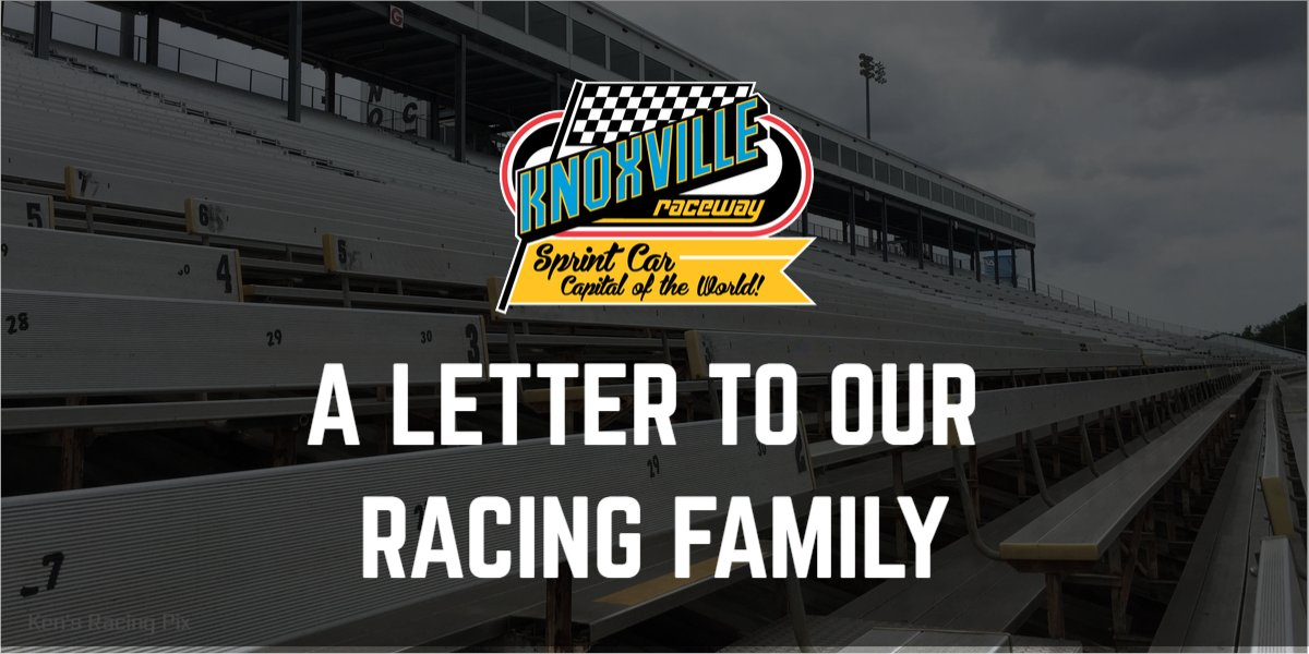Hard to put into words what we're feeling today. But, we tried. Here's our heartfelt letter to you, our racing family. https://t.co/9f1EEwHrVx https://t.co/Wu9rW0Mtqy