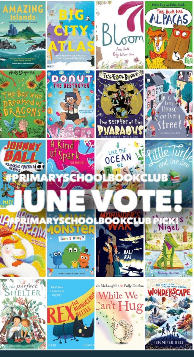 Cast your votes now for July's #PrimarySchoolBookClub 📚😃 See @PrimarySchoolBC tweets to vote.