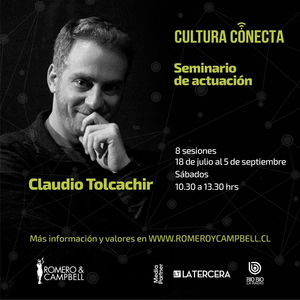 🔔🔔Se viene alto seminario de actuación online de @tolcachirc.   #CulturaConecta @romeroycampbell  +info en el enlace  https://t.co/ClwNsDYTuv https://t.co/8ROClciUvS