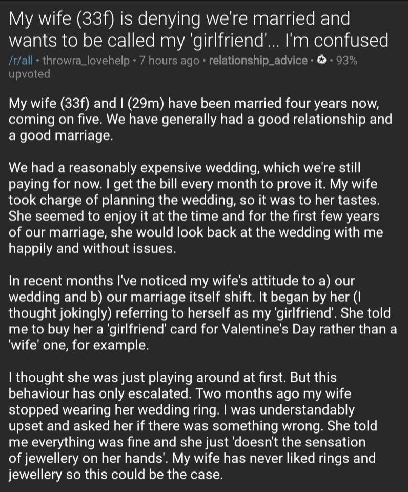 Wants girlfriend wife My Wife
