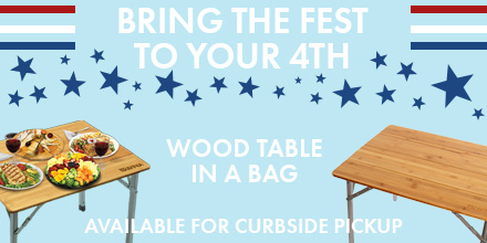 Celebrate the red, white, and YOU — treat yourself with our Wood Table in a Bag! This easy-to-assemble table is perfect for your 4th of July celebration. Be sure to get yours today: https://t.co/3zUpbxSXvH  Curbside pickup available Wednesdays 10:30 a.m.–2:30 p.m. https://t.co/yR88YrM7H7