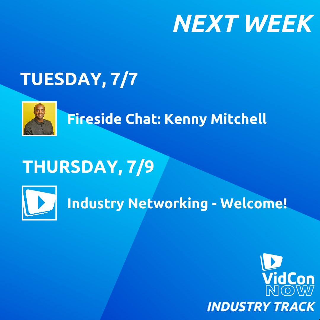 Here's what's next on #VidConNow's Industry Track!
