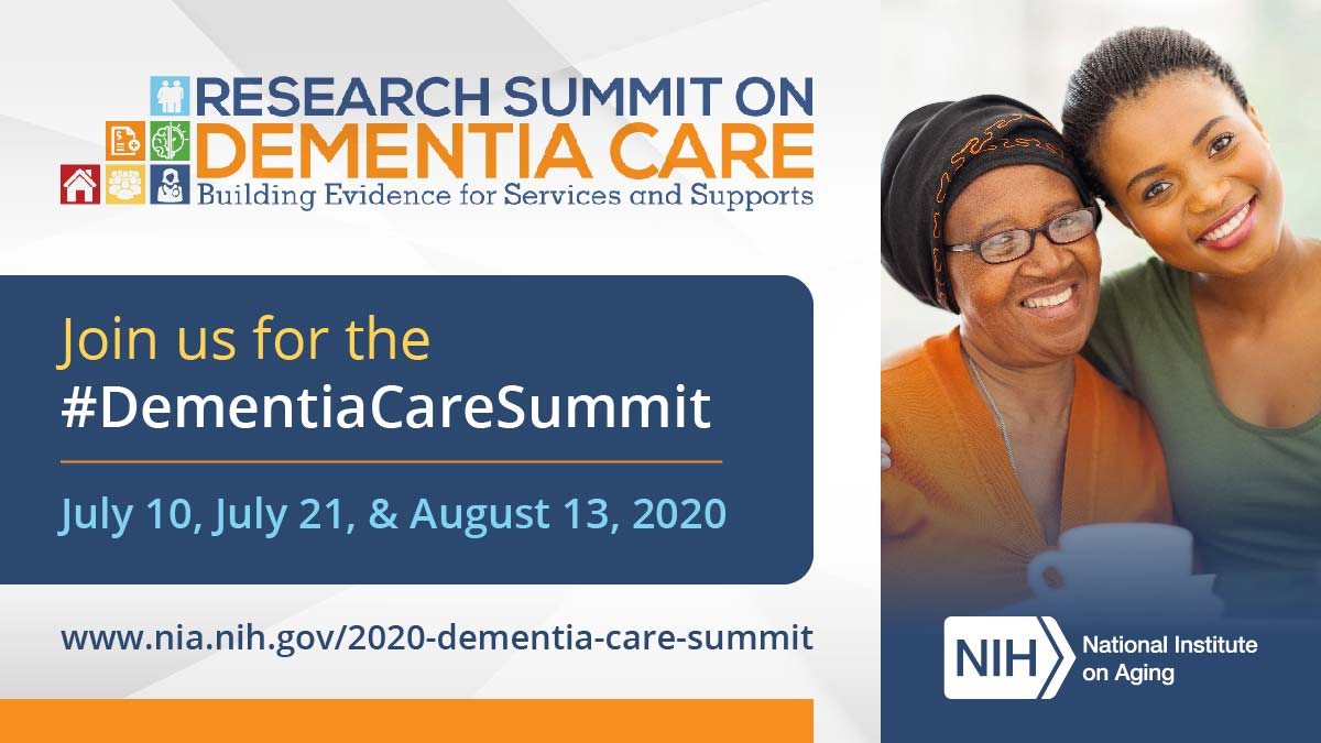 Join us virtually for the #DementiaCareSummit live on July 10, July 21, and August 13. Learn about research on dementia care and services for families & health care professionals: https://t.co/MttX2G846O https://t.co/3Ms5CPuLoq