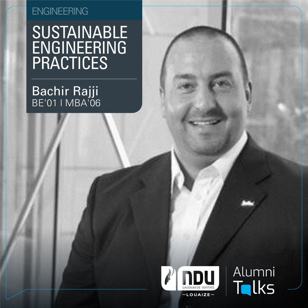 "July 1st 5 PM features Alumnus Bashir Rajji (BE'01, MBA'06), as he discusses ""Sustainable Engineering Practices"" with an insight on sustainability associated with retrofitting process in the hospitality sector.  https://t.co/MP6U4qAvDi https://t.co/ZjQB8o7KjL"