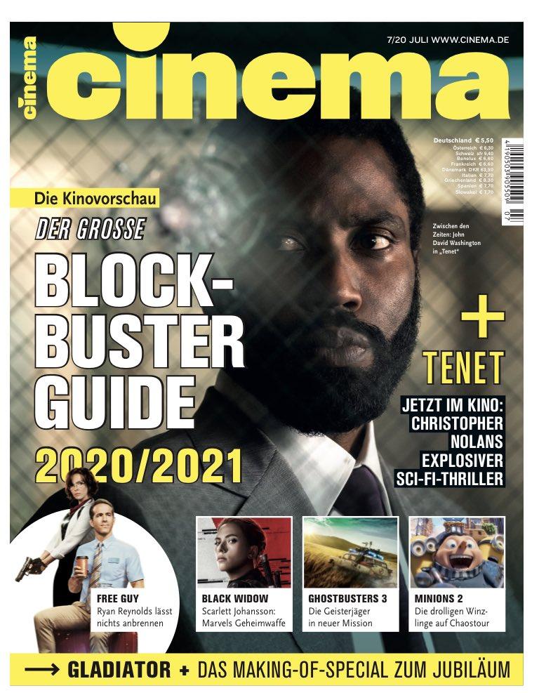 Der Blockbusterguide 2020/2021, alles zu #tenet, so entstand vor 20 Jahren #gladiator, Film-und Serientipps, Interviews, Reportagen, der ultimative Bericht zu #DARKseason3 uvm. - jetzt in der neuen Cinema. #wirliebenkino #kino #netflix #cinemaxx @ucikinode @CinemaxX @NetflixDE https://t.co/Wtrnni8zNy