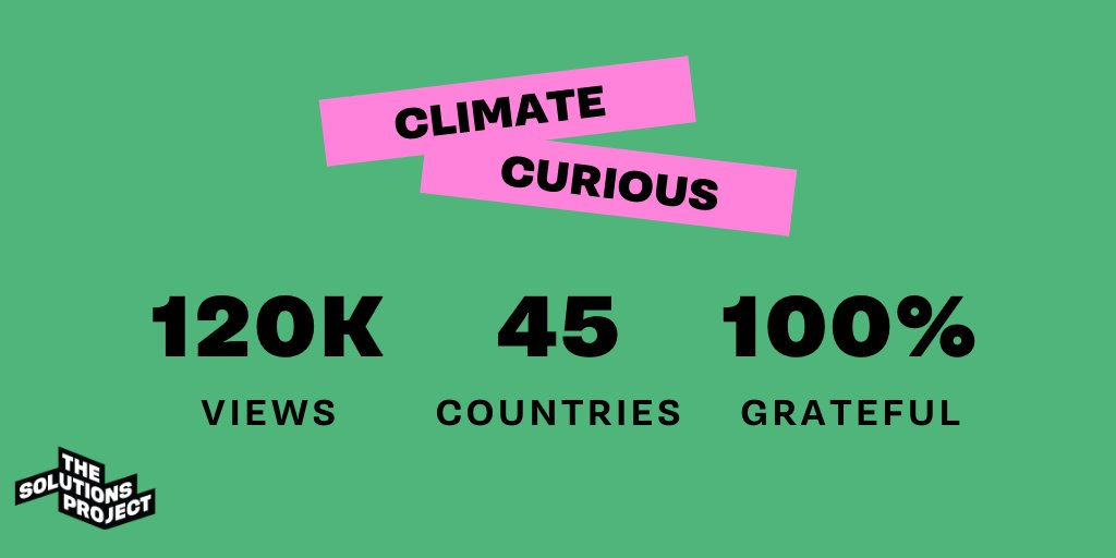 #ClimateCurious ep. 1 was a HUGE success, and it wouldnt have been without out community! Ep. 2 airs in 10 minutes (1pm PT)! Check us out LIVE on Facebook. bit.ly/3dM3rnX