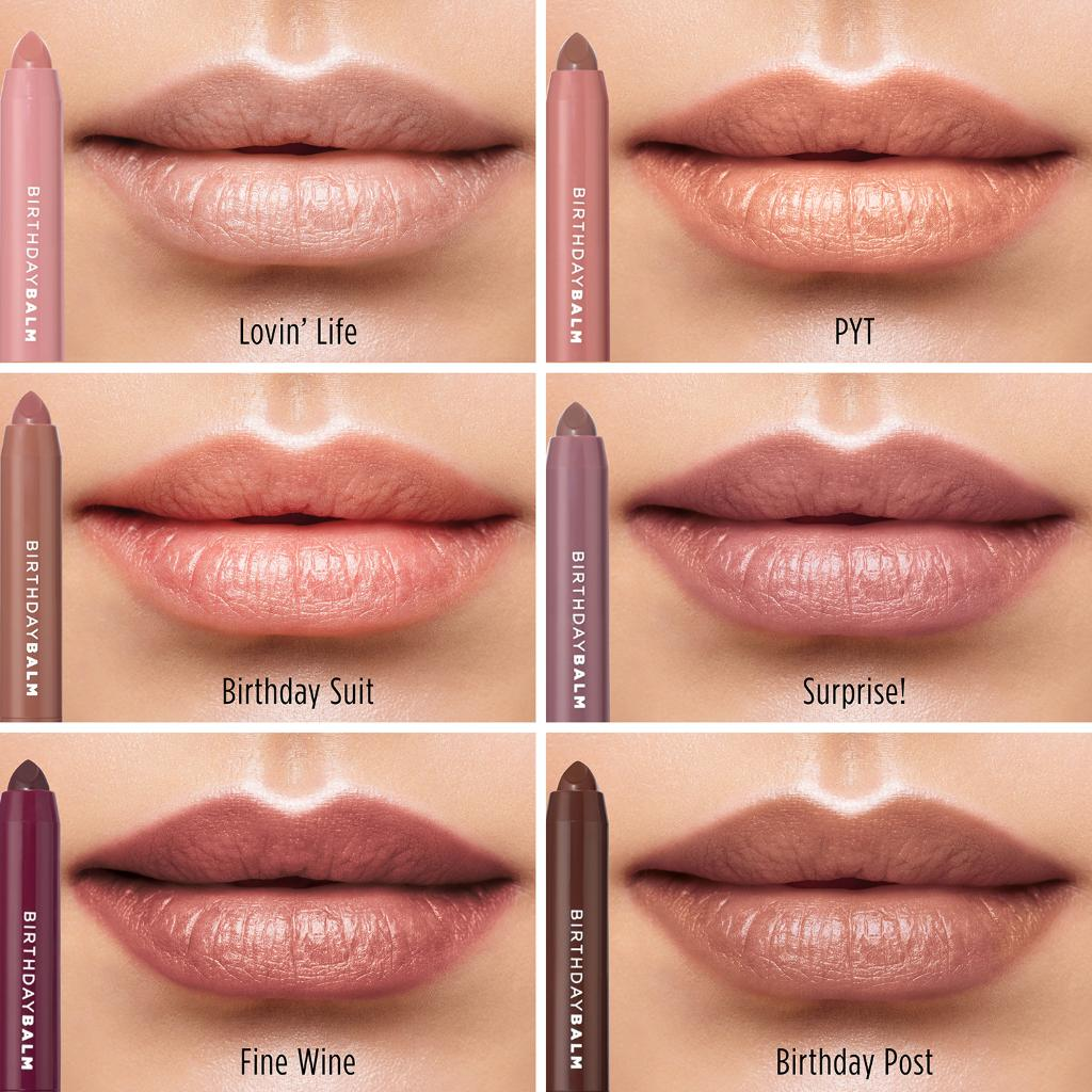 Are you more of a Lovin' Life, PYT, Birthday Suit, Surprise!, Fine Wine or Birthday Post? #lipcrayon #makeup #nudelipstick https://bit.ly/3ibwGUt pic.twitter.com/L3SsLB07Je