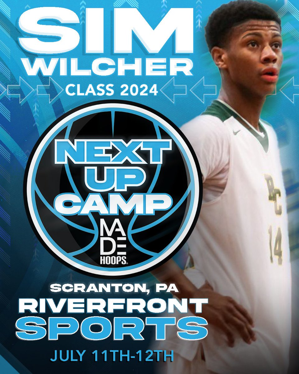 📈 Offers from the likes of Auburn, Oregon, UCLA & Xavier prove that 2023 G Sim Wilcher is NEXT UP!  🗓: July 11th-12th, 18th-19th, & 25th-26th ⛹️‍: Classes 2021-2026 🏟: Riverfront Sports 📍: Scranton, PA 🎥: Live Streamed  Register: https://t.co/Pwy8j4Nvqa https://t.co/R8kKFoLU0s