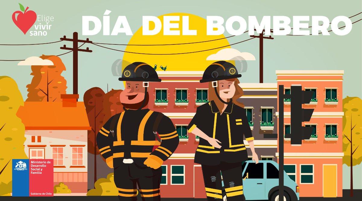 Hoy en el #DíaDelBombero queremos saludar a todos los @BomberosdeChile por su importante labor. Muchas gracias por su incansable trabajo por el bienestar de nuestro país.pic.twitter.com/5HeK1jO37X