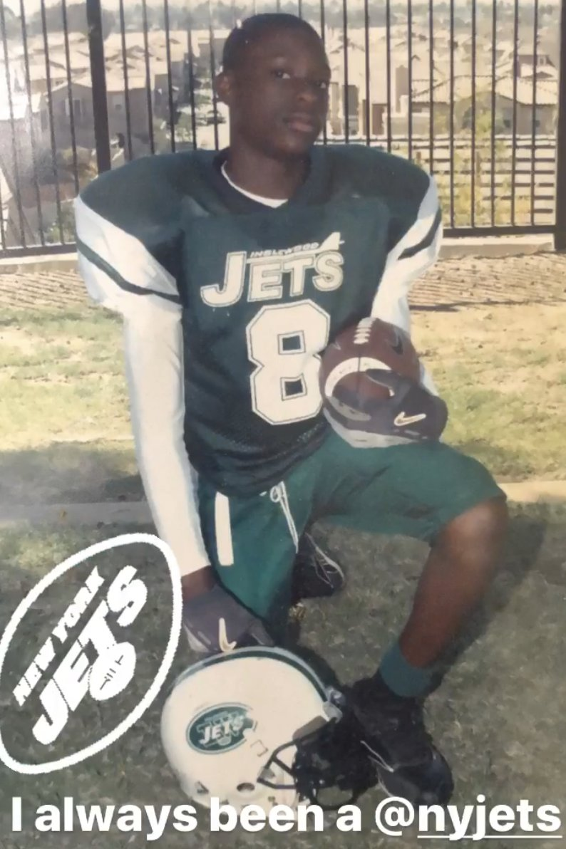Patrick Onwuasor was meant to be a Jet ✈️ (via peanut_thenut / IG)