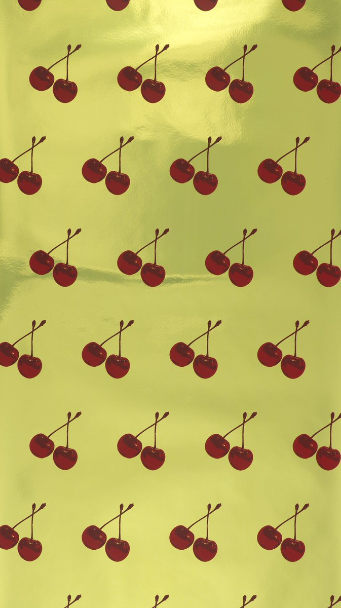 """This scratch-and-sniff wallpaper, """"Cherry Forever,"""" is in our @cooperhewitt's collection. It was designed by Michael Angelo and produced by Flavor Paper in 2007, with proceeds donated to the Human Rights Campaign. https://t.co/7Oe9Eii23r #SmithsonianPride #PrideMonth https://t.co/NZTgyHKgNa"""