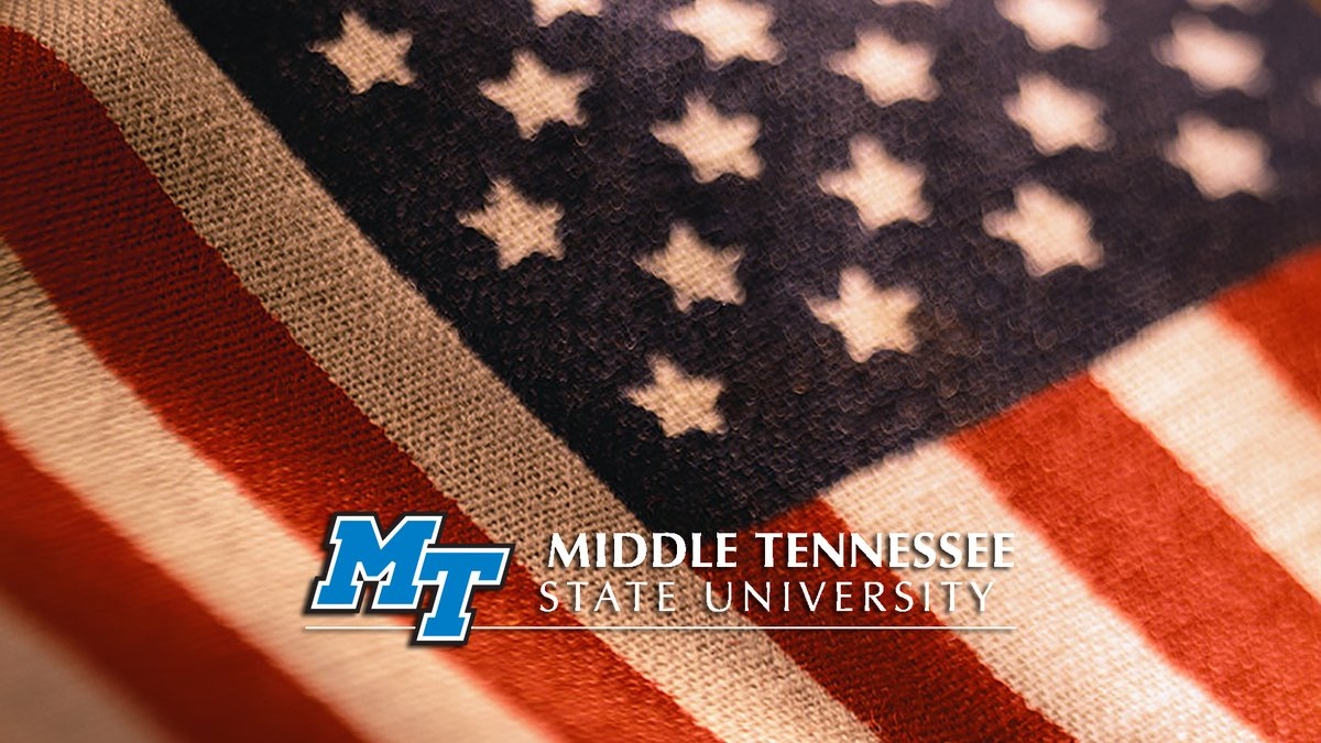 Remember, y'all: #MTSU will be closed this Friday, 7/3, for the #July4th national holiday. We'll reopen & classes will resume online Monday, 7/6. Be safe and have fun! #RedWhiteAndTrueBlue 🇺🇸🎉💥 #IndependenceDay https://t.co/DUV0vsqQlJ