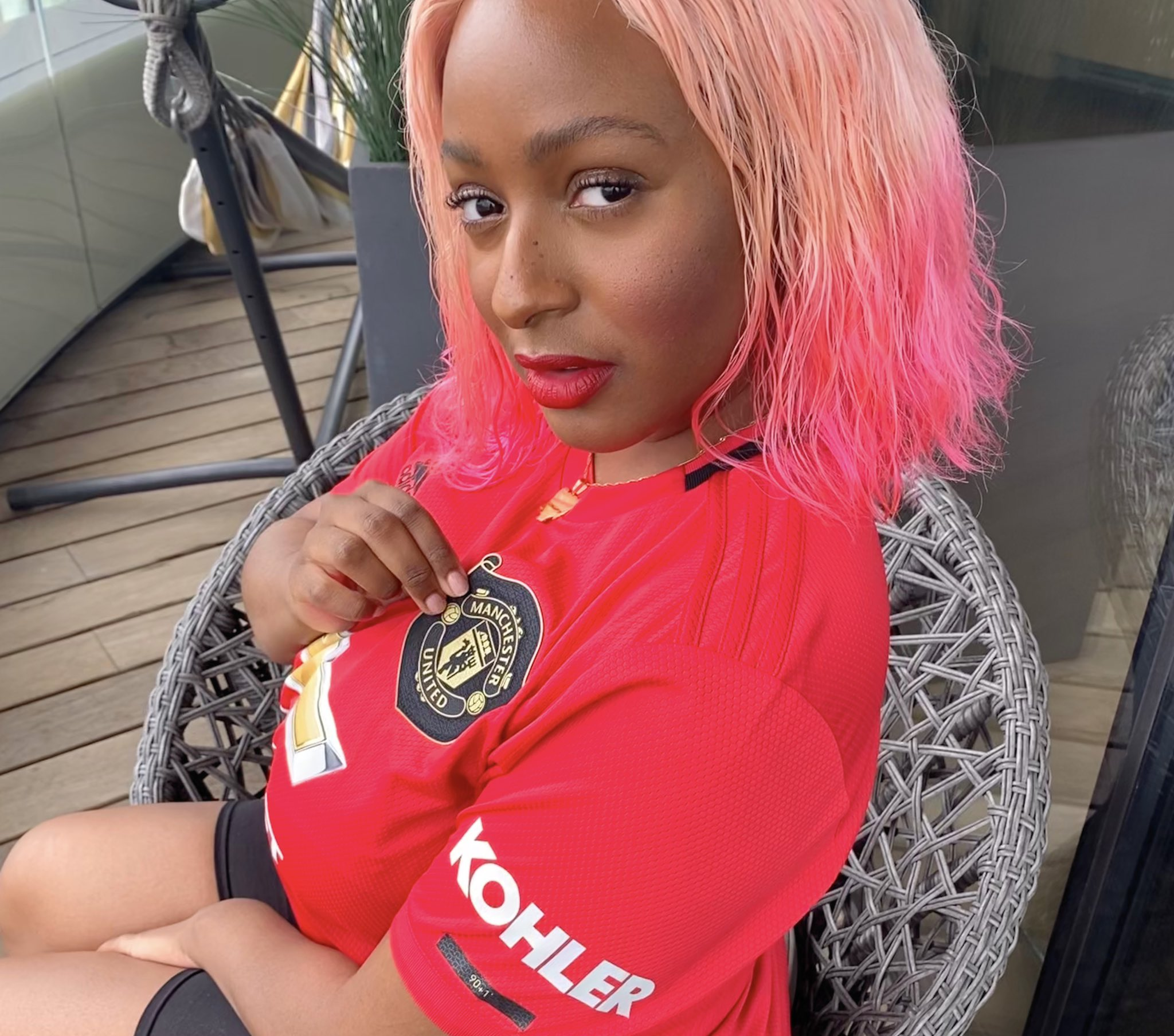 It's OFFICIAL No Turning Back – DJ Cuppy Joins Manchester United (Photos)