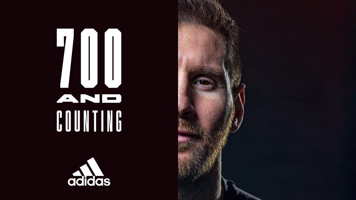 700 career goals, Leo Messi 🏆 https://t.co/9OBH28Ifw2