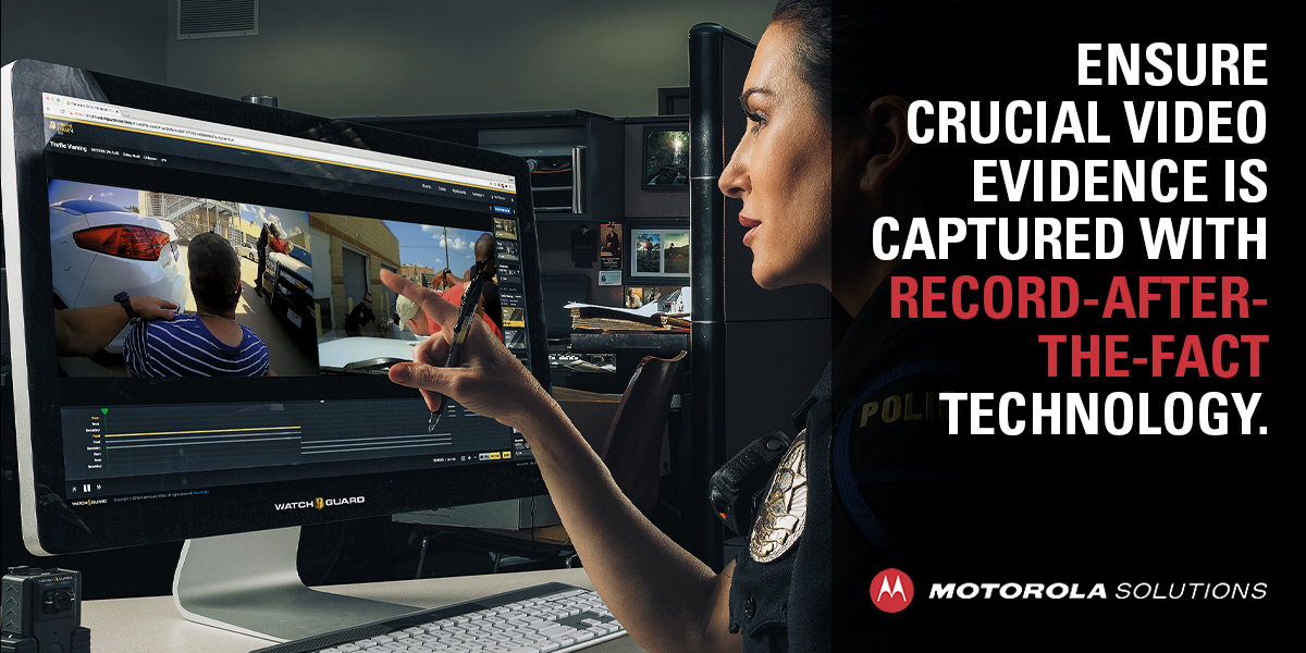 With #MotorolaSolutions V300 #BodyWornCamera and its Record-After-the-Fact technology, capture critical video evidence even when a recording wasn't able to be initiated, providing public transparency for your community. Find out more: https://t.co/G4l3d48WzJ https://t.co/Ql9gGfA23E
