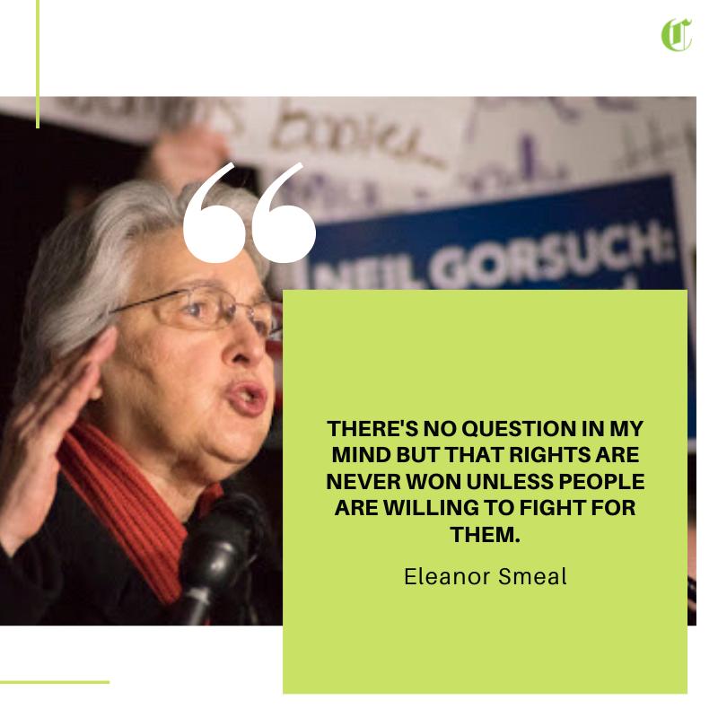#EleanorSmeal #quote #birthday #feminist #WomensRights #equality #feministmovement #FeministMajorityFoundation #activist #activism #HumanRights #HumanRightsActivist #humanity #justice #progress #politicspic.twitter.com/F3YLCh4bd1