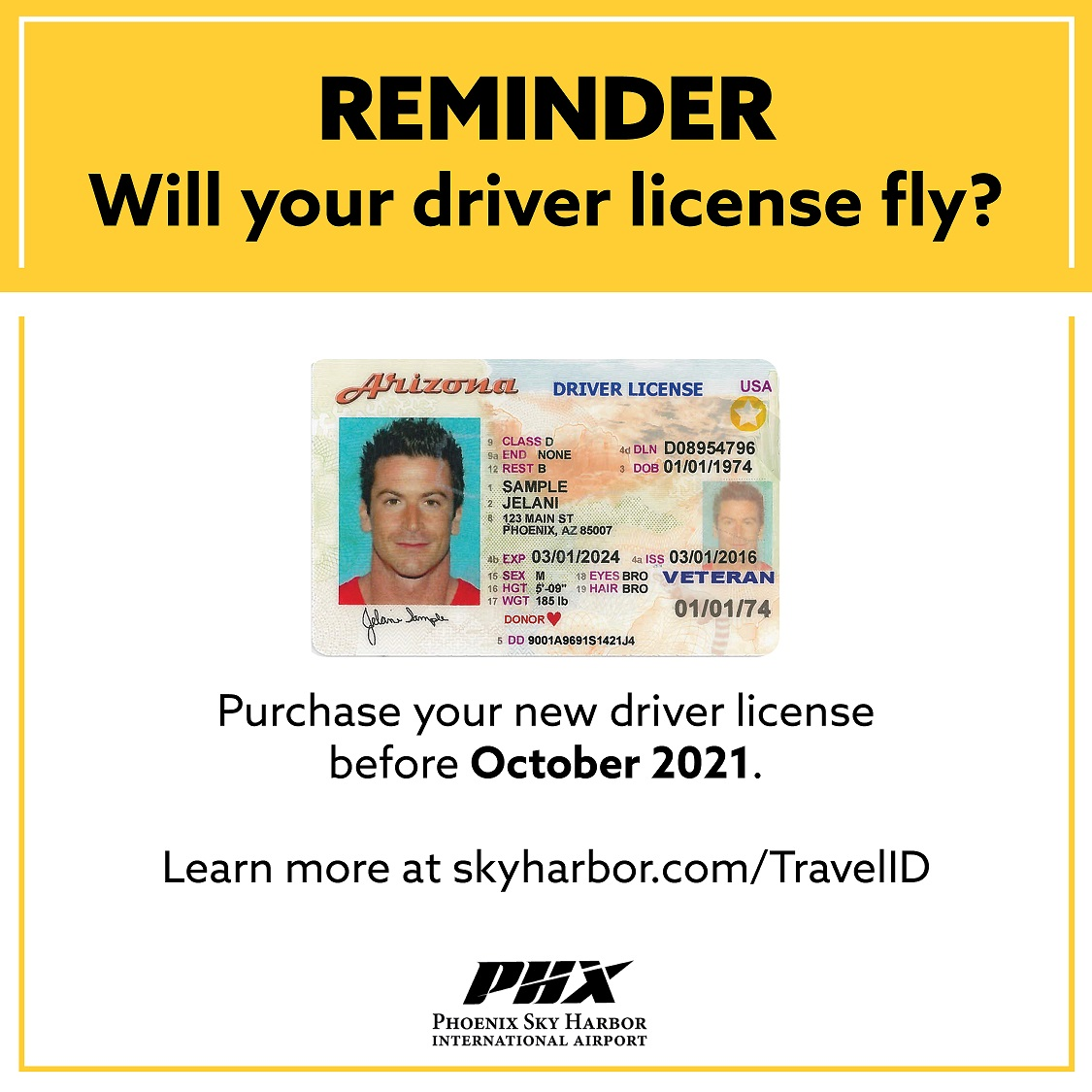 The Real ID/Travel ID deadline has been extended. Travelers now have until October 1, 2021 to acquire a compliant license. Visit https://t.co/2CwWXIcTYy for more information. ✈️ https://t.co/JLfHmjml3a