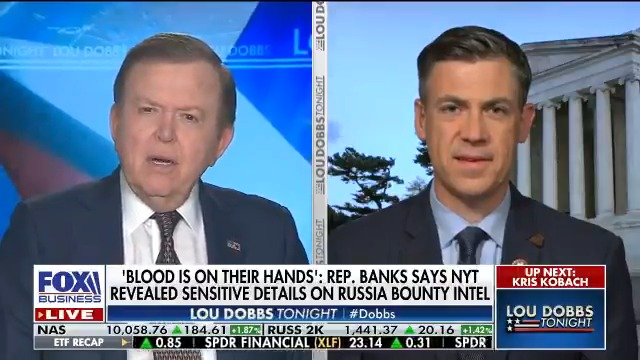 'Blood is on their Hands:' @RepJimBanks condemns the New York Times' despicable hit piece that was published to damage @POTUS as we get closer to Election Day. #MAGA #AmericaFirst #Dobbs