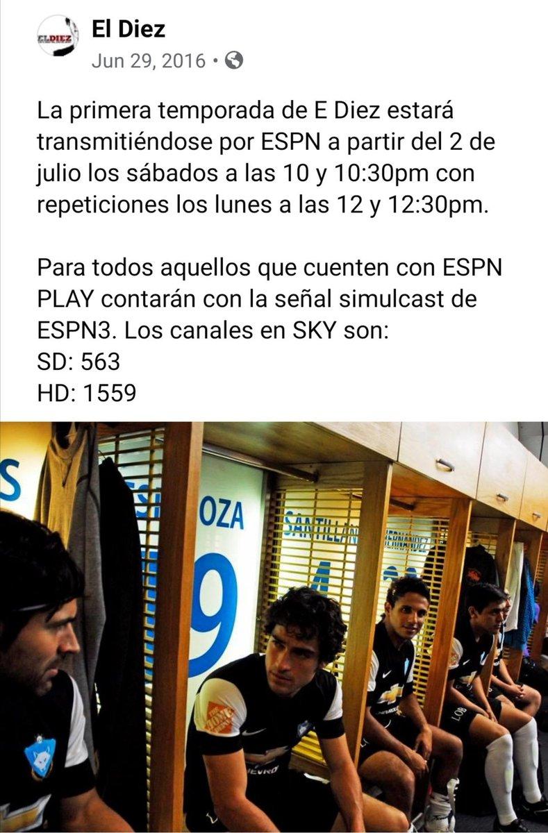 Por estas fechas del 2016, ya estaba bien emocionado porque se estrenaba #ElDiez por @ESPNmx con @ponchohd, @erendiritas, @cosio_joaquin, entre otros. Creo que el proyecto era buenísimo y no se le hizo justicia 😭 Ojalá hubiera tenido muchas más temporadas. https://t.co/YndI60r8GR