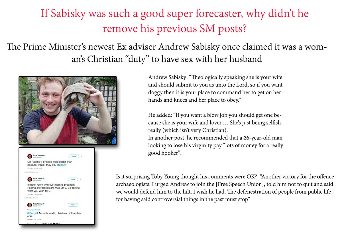 @katyballs If Sabisky was such a good super forecaster why didn't he take down his SM posts?