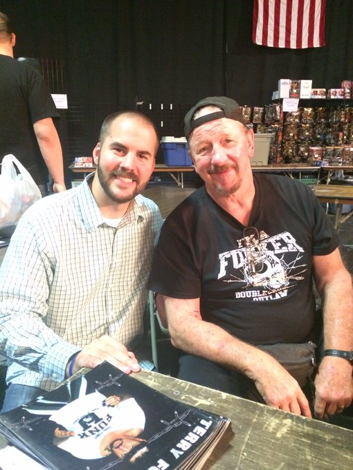 Happy birthday to the Funker, Terry Funk! One of the all time greats! Had the honor of interviewing him twice