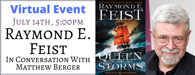 7/14 we're hosting @refeist at a virtual event for QUEEN OF STORMS! There's also an opportunity to win one of FIVE signed copies of 'Jimmy & The Crawler' - a hardcover never printed in the US! Reply to this tweet w/ a question for Raymond to be entered. https://t.co/BOxO3265vY https://t.co/lLdpLsFTpl