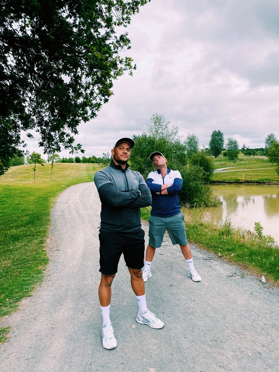 An awesome day @theshirelondon with @miaellax, @harryjamesonPT & @pumagolfuk !  Shoutout to @TubesSoccerAM who smashed the 72 Hole Longest day challenge to help raise money for our partnered charity @OnCourseCharity 👏👏👏  🎥 Content coming soon! #americangolf