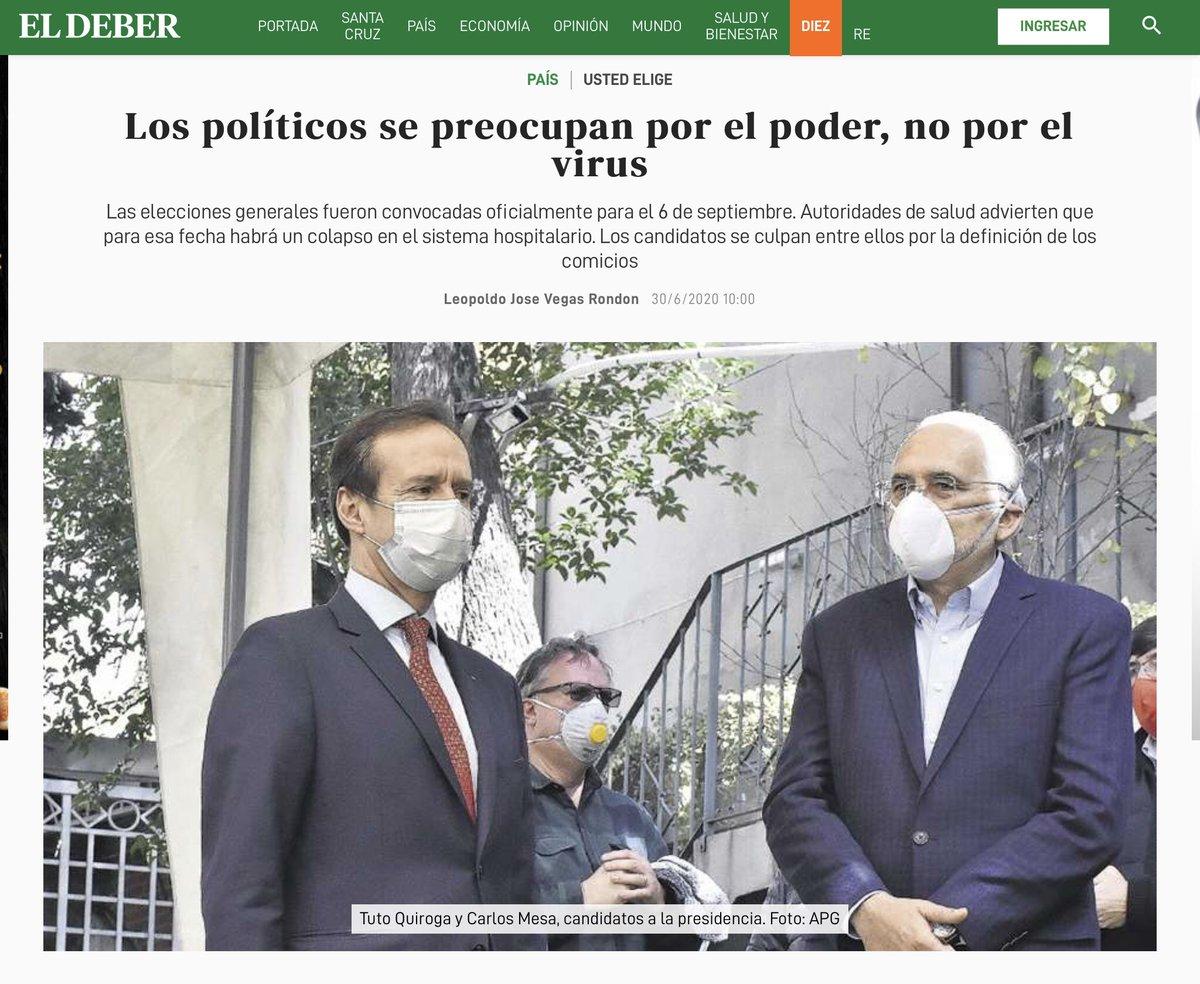 Lo dice El Deber ... https://t.co/uNHrFu25md
